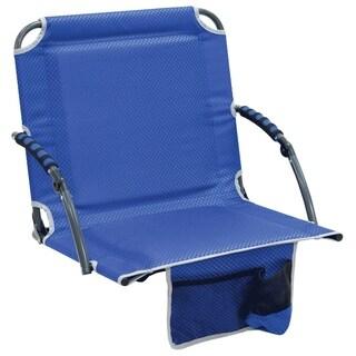 Bleacher Boss Stadium Seat with Arms - Blue