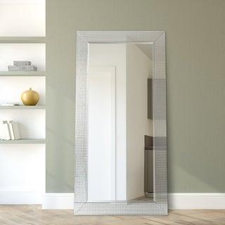 Bling Beveled Glass Leaner, Bathroom,Bedroom,Living Room - Clear