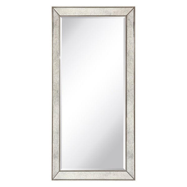 Champagne Beed Beveled Leaner, Bathroom,Bedroom,Living Room,Ready to Hang - Clear