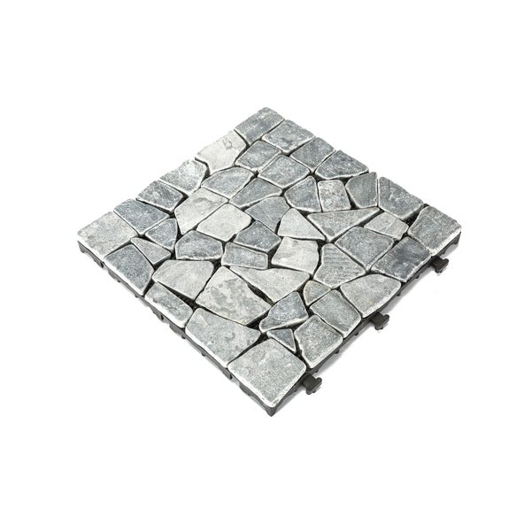 Courtyard Casual Natural Grey Travertine Deck Tile (Set of 6). Opens flyout.