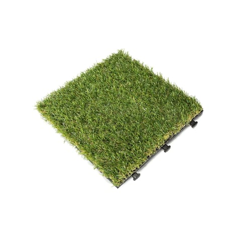 Courtyard Casual Artifical Grass Deck Tile, 9 pc Set