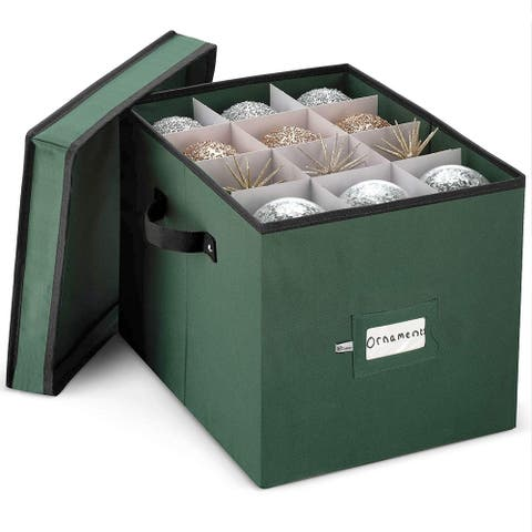 Premium Holiday Ornament Storage Box, 4-inch fits 36