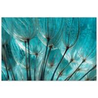 """Empire Art""""Dandelion"""" Frameless Tempered Art Glass Wall Art - Multi-color"""