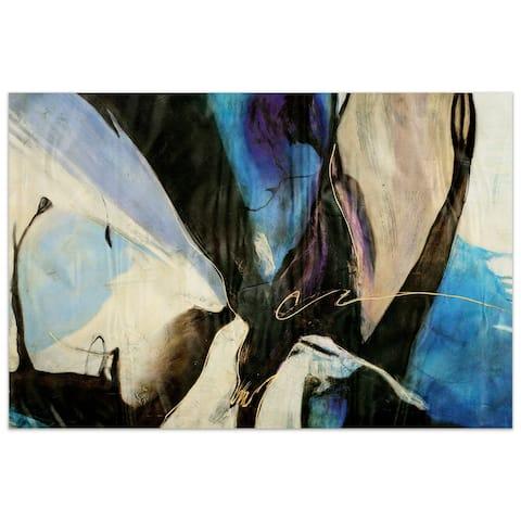"Empire Art""Motivos"" Frameless Tempered Art Glass Wall Art - Multi-color"