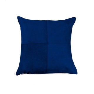 "Torino Quattro Cowhide Pillow 18""X18"" - Navy"