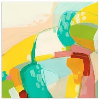 """Empire Art""""Chroma 3""""Frameless Free Floating Tempered Art Glass - Multi-color"""