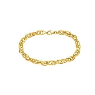 14K Solid Gold Fancy link Bracelet
