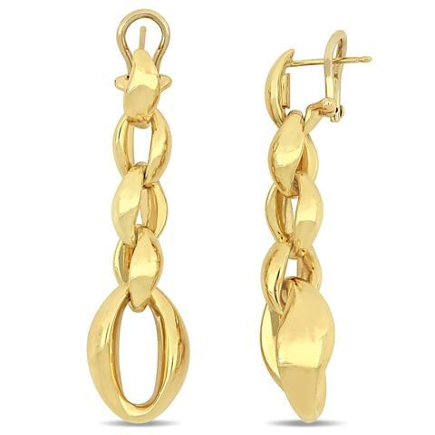 Miadora 18k Yellow Gold Interlinked Dangle Earrings
