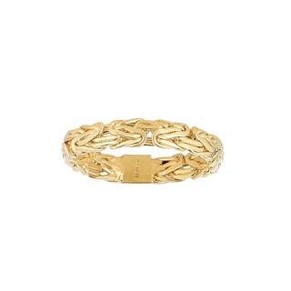 14K Solid Gold Byzantine Ring - Size 7
