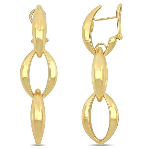 Miadora 18k Yellow Gold Interlinked Dangle Earrings