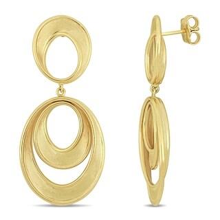 Miadora 18k Yellow Gold Interlinked Dangle Hoop Earrings