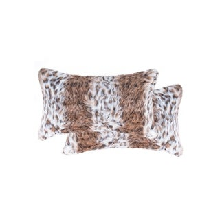 """Silver Orchid Durieux 2-pack Faux Pillow 12"""" x 20"""""""