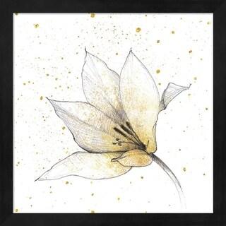 Avery Tillmon 'Gilded Graphite Floral IX' Framed Art