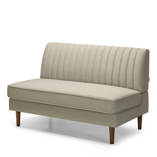 Shop Priage By Zinus Contemporary Armless Loveseat Beige