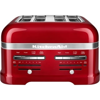 KitchenAid Pro Line 4-Slice Automatic Toaster with Dual Independent Controls in Candy Apple Red