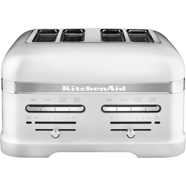 Kitchenaid Pro Line 4 Slice Automatic Toaster With Dual Independent Controls In Frosted Pearl White