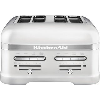 KitchenAid Pro Line 4-Slice Automatic Toaster with Dual Independent Controls in Frosted Pearl White