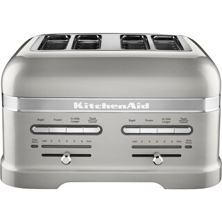 KitchenAid Pro Line 4-Slice Automatic Toaster with Dual Independent Controls in Sugar Pearl Silver