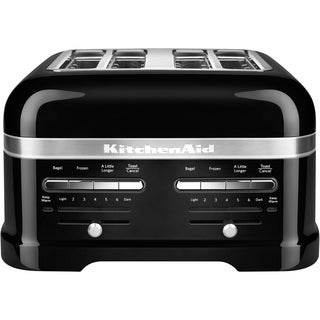 KitchenAid Pro Line 4-Slice Automatic Toaster with Dual Independent Controls in Onyx Black