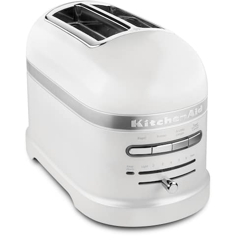 KitchenAid Pro Line 2-Slice Automatic Toaster in Frosted Pearl White