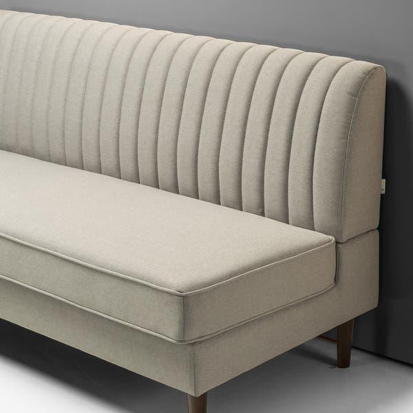 Shop Priage by Zinus Contemporary Armless Sofa, Beige - Free ...