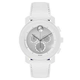 Movado Bold White Leather Strap Men's Watch