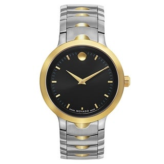 Movado Luno Silver and Gold Men's Watch