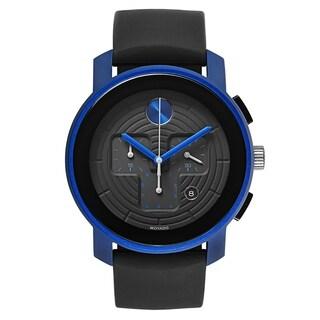 Movado Bold Black Silicone Strap Men's Watch