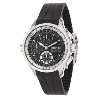 Hamilton Khaki Aviation X-Patrol Auto Chrono Rubber Strap Men's Watch