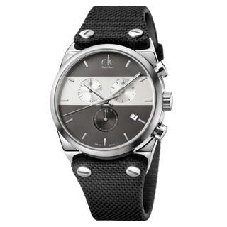 Calvin Klein Eager Black Fabric Strap Men's Watch