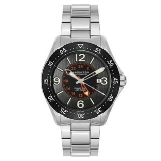 Hamilton Khaki Aviation Pilot GMT Auto Silver and Black Men's Watch