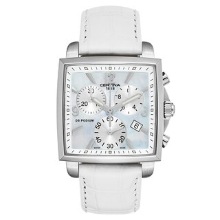 Certina DS Podium Chronograph Leather Strap Women's Watch