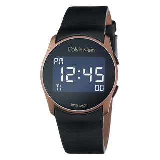 Calvin Klein Future Black Leather Strap Women's Watch