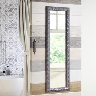 Porch & Den Tualatin Pewter Finish Large Rectangular Mirror - 17 W x 1 D x 53 H