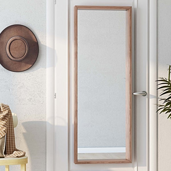 Carson Carrington Salla Natural Rectangular Decor Mirror - 15 W x 3 D x 49 H