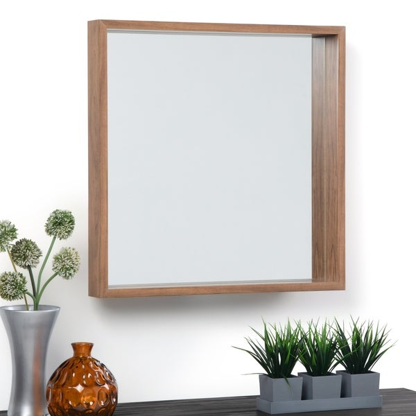 Carson Carrington Kanstjo Natural Stain Square Decor Mirror - 25 W x 3 D x 25 H
