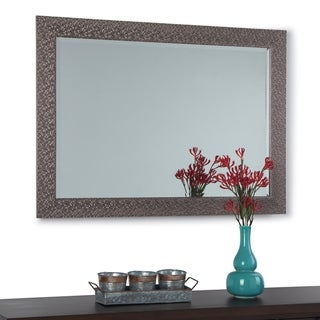 Copper Grove Montgeron Rectangular Decor Mirror with Graphite Border - 29 W x 1 D x 41 H