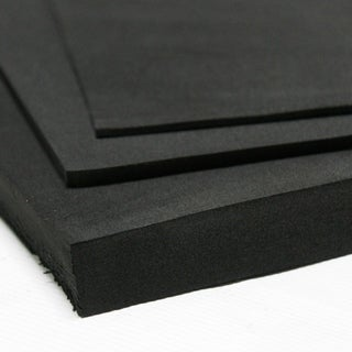 """Rubber-Cal Closed Cell Rubber Blend - 39"""" x 78"""" - 8 Thickness Variations - Black"""