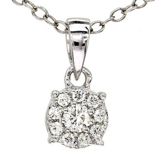 1 8 Ct Diamond Beautiful Pendant 10k White Gold