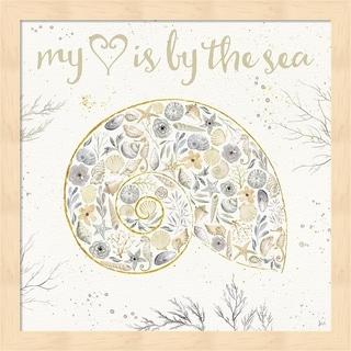 Jess Aiken 'Seaside Blossoms III Neutral' Framed Art