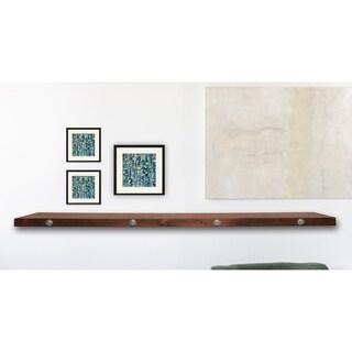 Modern Industrial Floating Shelf - Wood Shelf  35 - 50 inches