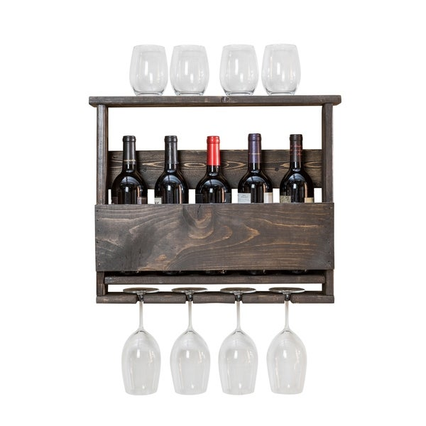 Handmade Luxe Top Shelf Wine Rack