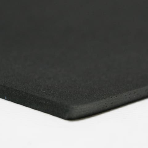 "Rubber-Cal Closed Cell Rubber Neoprene - 39"" x 78"" - 8 Thickness Variations - Black"