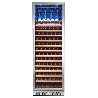 AKDY 83-Bottle Touch Panel Single Zone Shelves Freestanding Compressor Wine Cooler