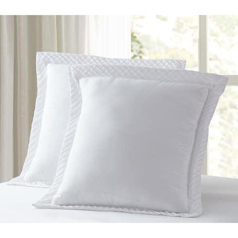 Luxury Collection Diamond Euro Pillow Sham - WHITE (Set of 2)