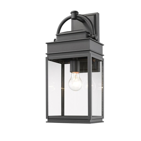 lantern style outdoor lights outside artcraft lighting fulton black aluminium lanternstyle outdoor light with clear glass shade shop