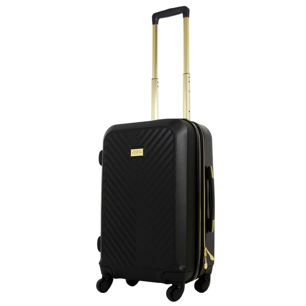 MacBeth Womens Collection 23in Black Molded Quilt Rolling Luggage