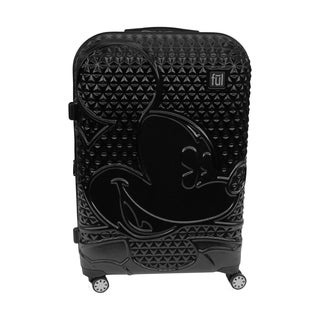 Ful Disney Textured Mickey Mouse 29in Hardsided Rolling Luggage, Black