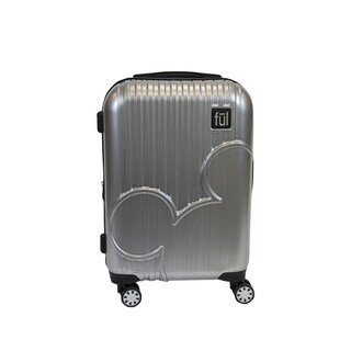 Ful Disney Molded Mickey Mouse 21in Hardsided Rolling Luggage, Silver