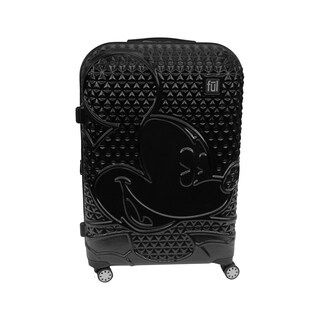 Ful Disney Textured Mickey Mouse 25in Hardsided Rolling Luggage, Black